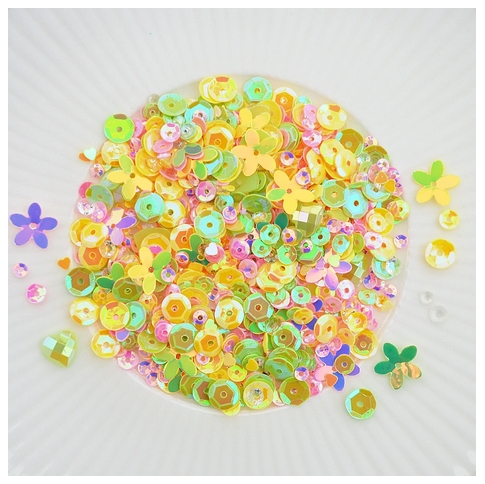 Little Things From Lucy's Cards HELLO SPRING Sequin Shaker Mix LB304 zoom image