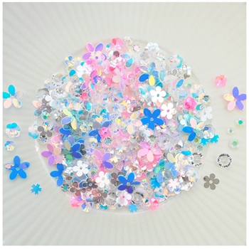 Little Things From Lucy's Cards FLORAL DELIGHT Sequin Shaker Mix LB302