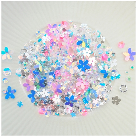 Little Things From Lucy's Cards FLORAL DELIGHT Sequin Shaker Mix LB302 zoom image