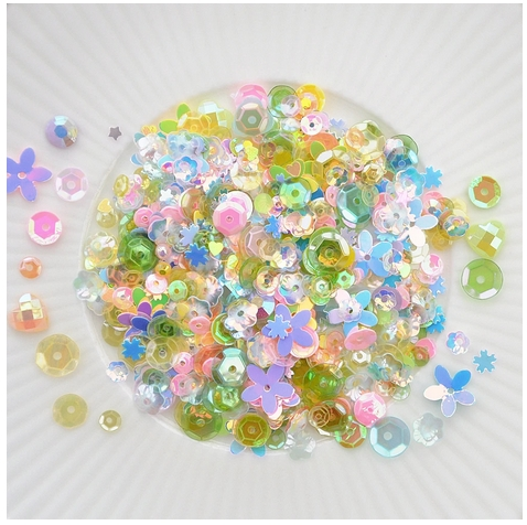 Little Things From Lucy's Cards SPRING BORDER Sequin Shaker Mix LB303 zoom image