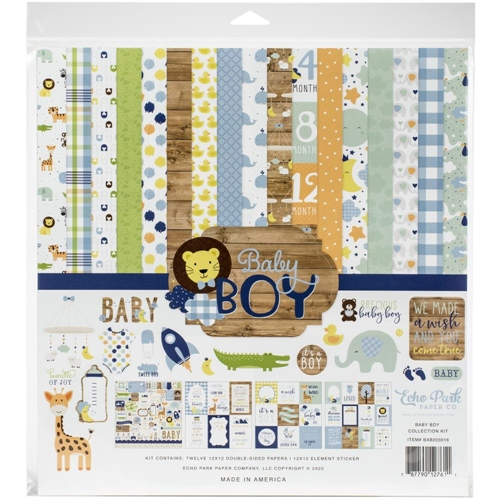 Echo Park BABY BOY 12 x 12 Collection Kit bab203016 Preview Image