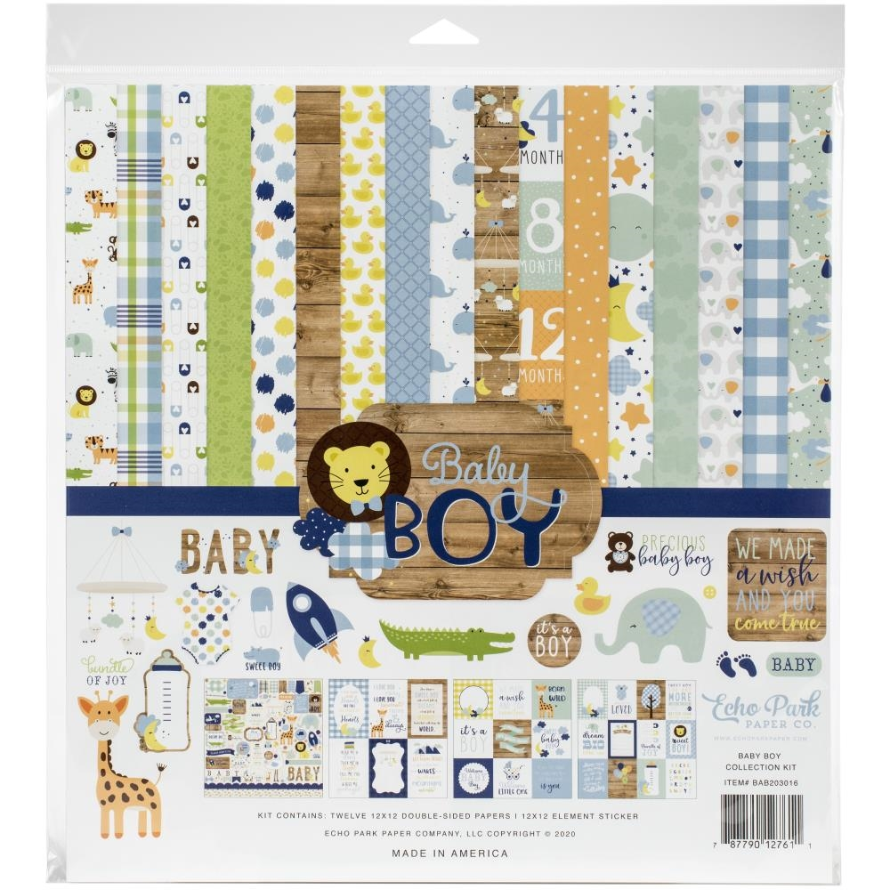 Echo Park BABY BOY 12 x 12 Collection Kit bab203016 zoom image