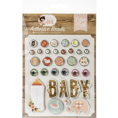 Echo Park BABY GIRL Adhesive Brads bag202020 Preview Image
