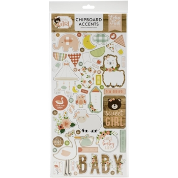 Echo Park BABY GIRL Chipboard Accents bag202021*
