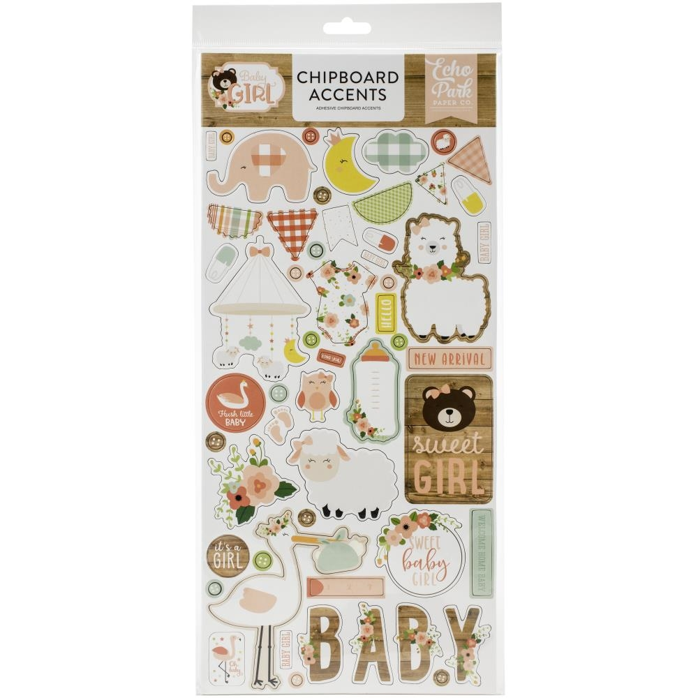 Echo Park BABY GIRL Chipboard Accents bag202021 zoom image