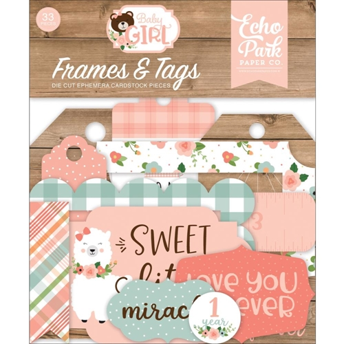 Echo Park BABY GIRL Ephemera Frames And Tags bag202025* Preview Image