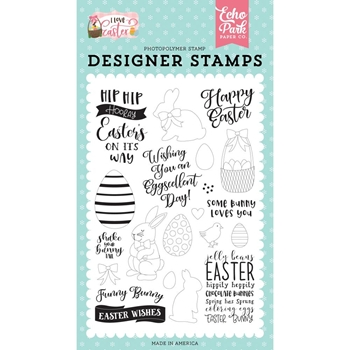 Echo Park FUNNY BUNNY Clear Stamps lea205043