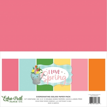 Echo Park I LOVE SPRING 12 x 12 Solids Paper Pack lsp204015