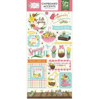 Echo Park I LOVE SPRING Chipboard Accents lsp204021