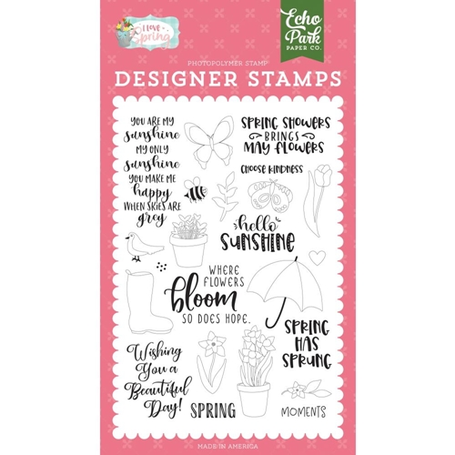 Echo Park SPRING SHOWERS Clear Stamps lsp204044 Preview Image