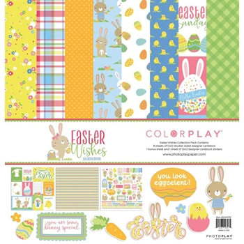 PhotoPlay EASTER WISHES 12 x 12 Collection Pack ColorPlay eaw9747