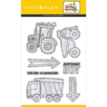 PhotoPlay LITTLE BUILDER Clear Stamps lib9739