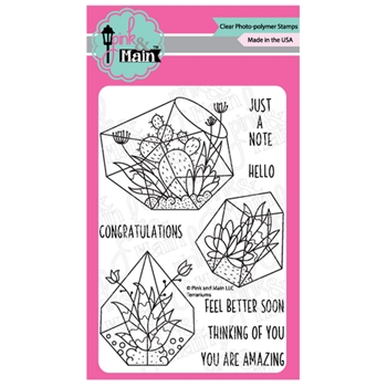 Pink and Main TERRARIUMS Clear Stamps PM0382