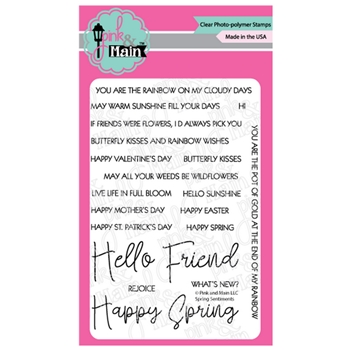 Pink and Main SPRING SENTIMENTS Clear Stamps PM0388
