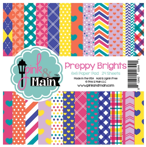 Pink and Main PREPPY BRIGHTS 6x6 Paper Pad PMP031 zoom image