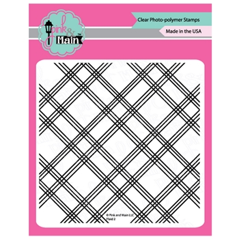 Pink and Main PLAID 2 Clear Stamps PM0378