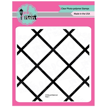 Pink and Main PLAID 1 Clear Stamps PM0377