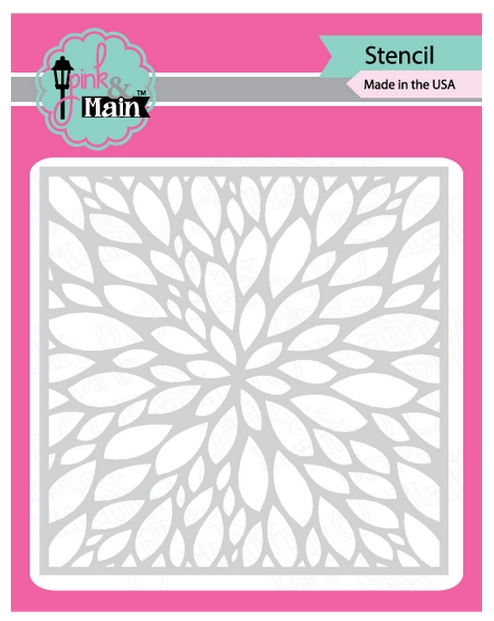 Pink and Main PETALS Stencil PMS009 zoom image