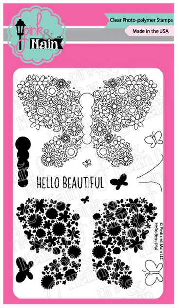 Pink and Main HELLO BEAUTIFUL Clear Stamps PM0381 zoom image
