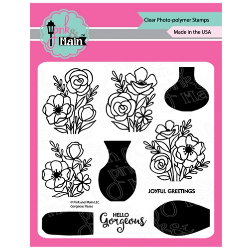 Pink and Main GORGEOUS VASES Clear Stamps PM0380 Preview Image