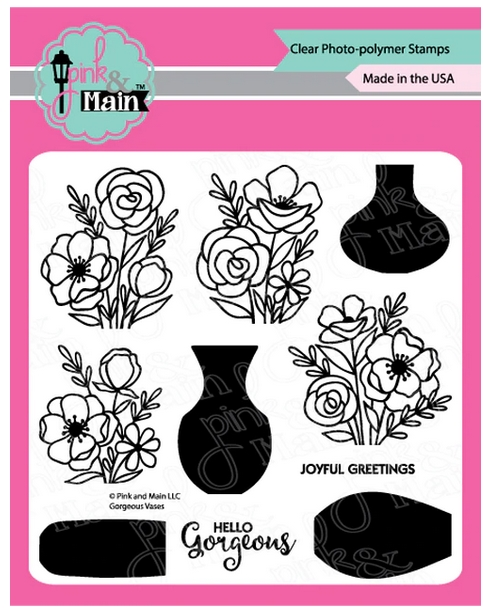 Pink and Main GORGEOUS VASES Clear Stamps PM0380 zoom image