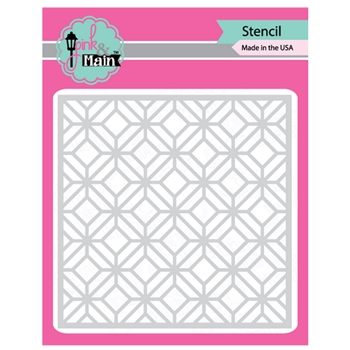 Pink and Main GARDEN GATE Stencil PMS012