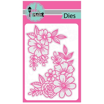 Pink and Main FLORAL CORNERS Dies PNM256