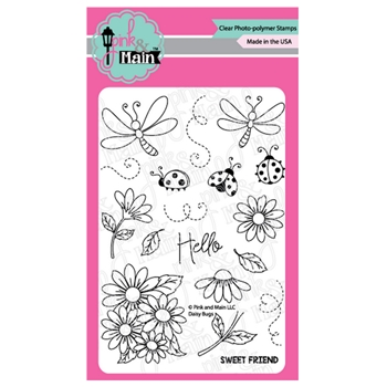 Pink and Main DAISY BUGS Clear Stamps PM0383