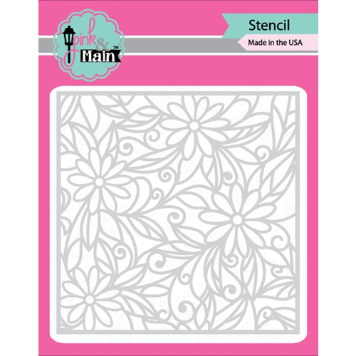 Pink and Main DAISIES Stencil PMS011 Preview Image