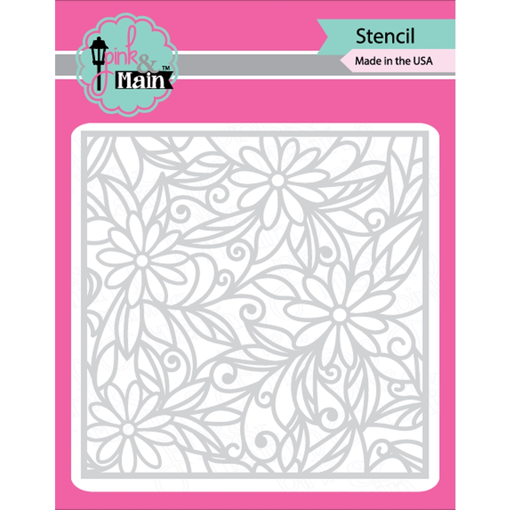 Pink and Main DAISIES Stencil PMS011 zoom image