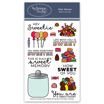 Technique Tuesday SWEET AS CANDY Clear Stamps 2663