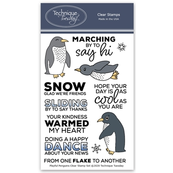 Technique Tuesday PLAYFUL PENGUINS Clear Stamps 2661*