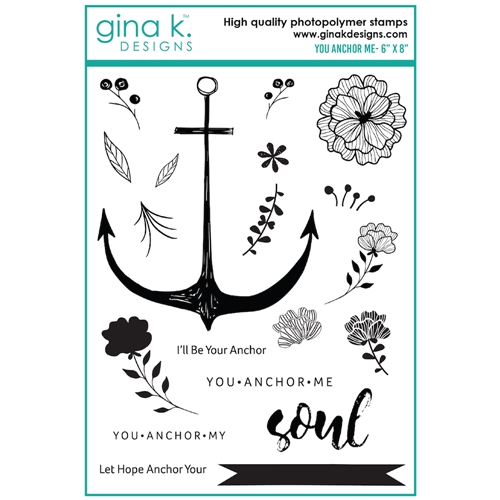 Gina K Designs YOU ANCHOR ME Clear Stamps 0183* Preview Image
