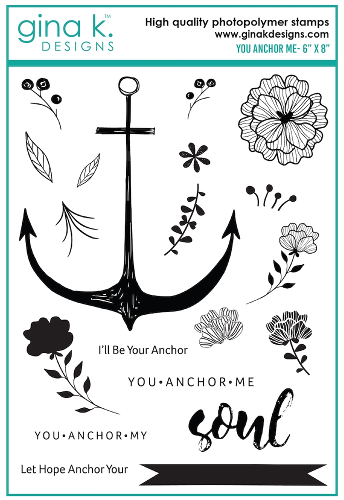 Gina K Designs YOU ANCHOR ME Clear Stamps 0183* zoom image