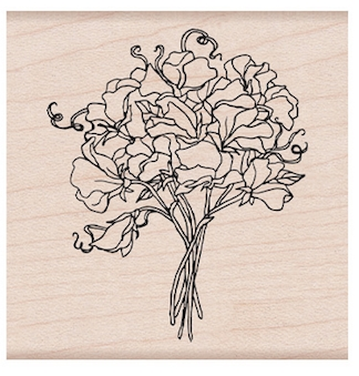 Hero Arts Rubber Stamp SWEETPEA BOUQUET F6421 zoom image