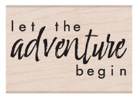 Hero Arts Rubber Stamp LET THE ADVENTURE BEGIN E6406