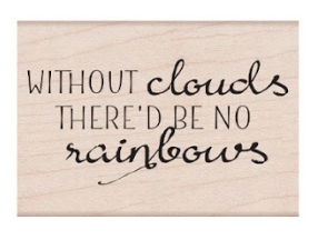 Hero Arts Rubber Stamp CLOUDS AND RAINBOW MESSAGE E6401