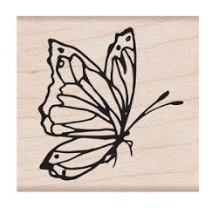 Hero Arts Rubber Stamp SIDE VIEW BUTTERFLY D6381