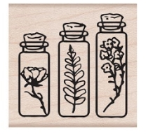 Hero Arts Rubber Stamp THREE BOTTLES D6379