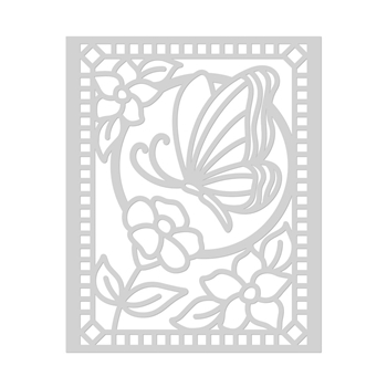 Hero Arts Stencil BUTTERFLY STAINED GLASS SA134