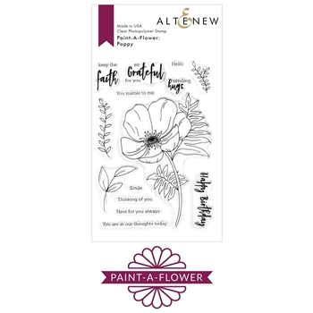 RESERVE Altenew PAINT A FLOWER POPPY Clear Stamps ALT3854