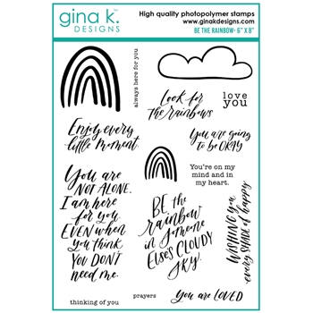Gina K Designs BE THE RAINBOW Clear Stamps 0244