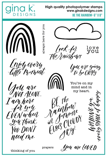 Gina K Designs BE THE RAINBOW Clear Stamps 0244 zoom image