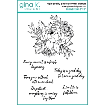 Gina K Designs MASSIVE PEONY Clear Stamps 0190