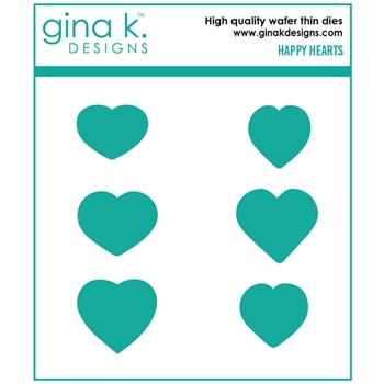 Gina K Designs HAPPY HEARTS Die Set 0206