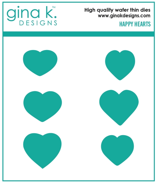Gina K Designs HAPPY HEARTS Die Set 0206 zoom image