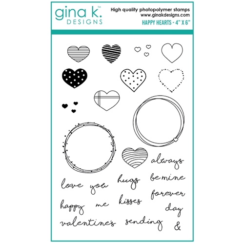 Gina K Designs HAPPY HEARTS Clear Stamps 0213 Preview Image