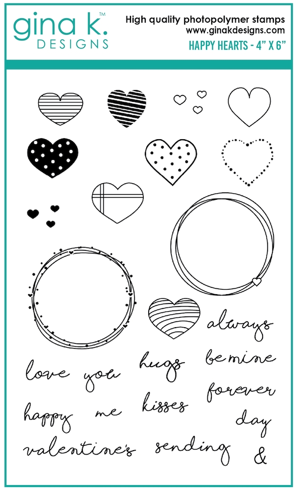 Gina K Designs HAPPY HEARTS Clear Stamps 0213 zoom image