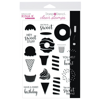 Therm O Web Rina K Designs SWEET STUFF Clear Stamps 18157