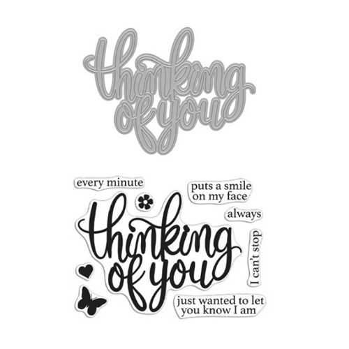 Hero Arts Stamp And Cuts THINKING OF YOU Coordinating Set DC273 Preview Image